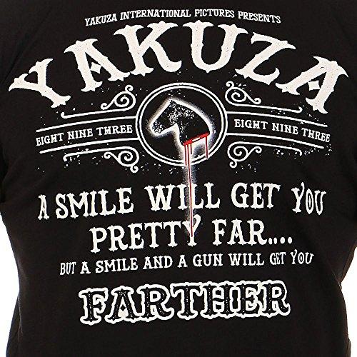 Yakuza Uomo Maglieria/T-Shirt Farther Nero
