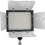 Bestlight® W300II LED Estudio Fotografía 3200 ~ 6000K Regulable Luz con visera Panel de Luz de salida continua Luz de vídeo con monte de cámara y filtros para Sony, Canon, Panasonic, Hitachi, Samsung y otras cámaras digitales