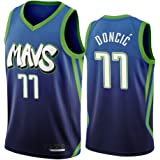 Camiseta de Baloncesto de los Hombres - NBA Dallas Mavericks # 77 Luka Doncic Mangas Transpirable Retro Deportes Camisetas