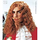 MUSKETEER WIG W/TASH GOATEE GINGER Accessory for Athos Aramis d