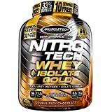 Muscletech Nitro Tech Whey Plus Isolate Gold Suplemento de Proteínas Double Rich Chocolate - 1810 gr