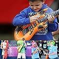 NUOLUX Aufblasbare Prop,Aufblasbare Gitarre musikalische Instrumente Spielzeug, 12 Stück (zufällige Farbe)
