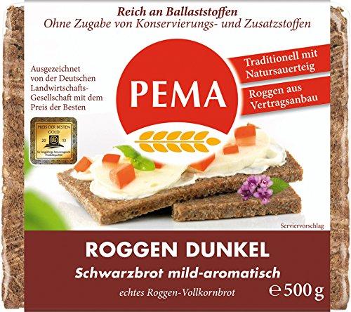 Pema Roggen-Dunkel Schwarzbrot, 6er Pack (6 x 500 g) (Schwarzbrot Kann)