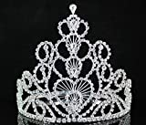 Janefashions Full Crown Hearts Clear Austrian Rhinestone Crystal Tiara Pageant Party T1507