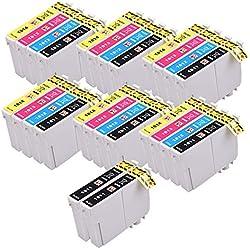 PerfectPrint Compatible Encre Cartouche Remplacement Pour Epson Expression Home XP -102 202 212 215 205 225 302 305 312 315 322 325 402 412 415 405 422 425 405 18XL (Noir/Cyan/Magenta/Jaune, 26-Pack)
