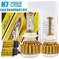 taitian H7fari auto Kit di conversione 180W ad alta potenza CREE LED auto luce anteriore Fendinebbia lampadina 6500K 18000lm Proiettore Sostituire Xenon Light-3Yr garanzia
