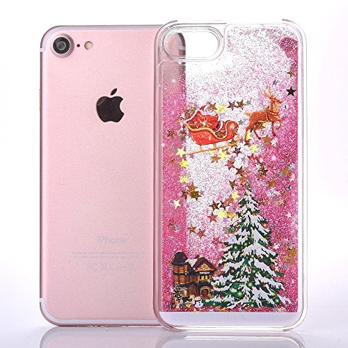 iPhone 7 Plus Bling Diamant Cœur Etui Housse Coque,iPhone 7 Plus Bling Coque,iPhone 7 Plus Transparente Coque,iPhone 7 Plus Plastique Etui Transparent Diamant Housse Coque Hard,iPhone 7 Plus Clear Coq Christmas Tree 1