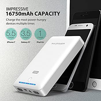 Portable Charger Ravpower 16750mah Power Bank External Battery Pack With Most Powerful 4.5a Output & Ismart Technology - White 2