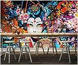 Yosot 3D Tapete Hand Gemalte Japanische Schönheit Dekorative Malerei Tapete Für Wand Home Improvement 3D Tapete Wohnzimmer-140Cmx100Cm