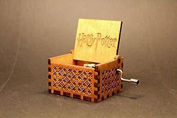 Fancelite Engraved Wooden Harry Potter Music Box Natural