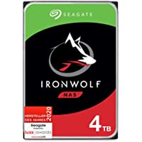 Seagate IronWolf, NAS interne Festplatte 4 TB HDD, 3,5 Zoll, 5900 U/Min, CMR, 64 MB Cache, SATA 6 GB/s, silber, inkl. 3…