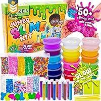DIY Slime Kit para Manualidades Niños - El Mejor Kit Slime con Purpurina que Brilla en la Oscuridad y Bolas de Espuma Grandes - 18 x Caja Sorpresa de Slime Polvos Brillantes para Halloween de Zen Laboratory