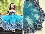 Pizzo floreale vestito da sposa/matrimonio fiore ricamato tessuto tovaglia vestiti per bambole fai da te Crafts Scallop Trim applique abbigliamento tende 20cm larghezza 9,1m ALT01 Blue/Purple