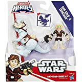 Disney Star Wars Galactic Heroes Action Figure and Creature - Han Solo and Tauntaun Hoth Toy