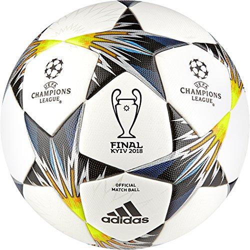adidas Finale Kiev OMB Ball Fußball, White/Black/SYELLO/Bl, 5 -