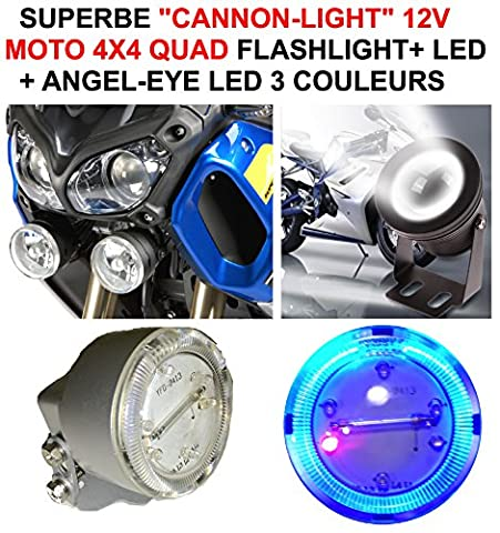 BMW Harley Buell Goldwing.-Wunderschöne 2cannon-light Durchmesser 5cm + Flashlight + Umreifung Angel Eye.