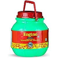 Engine Brand Kachi Ghani Agmark Grade - 1 Mustard Oil - 5 Liter Matka Jar