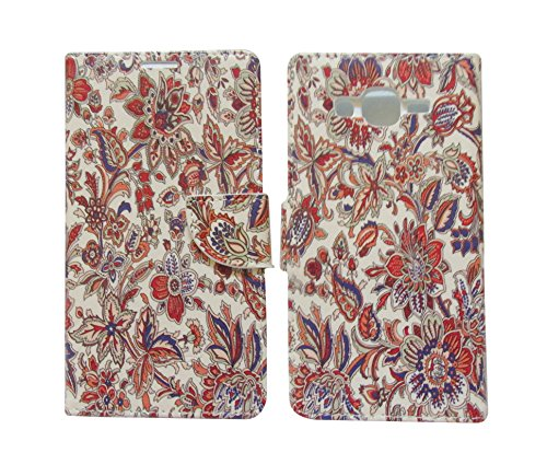 Sharp Icon Fancy Printed Designer Leather Flip Wallet Back Cover Case for Samsung Galaxy On7,On7 Pro