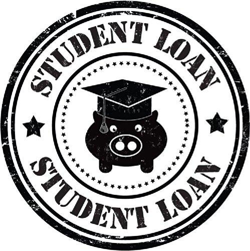 Student Loan Education Funny Pig Grunge Stamp Hochwertigen Auto-Autoaufkleber 12 x 12 cm