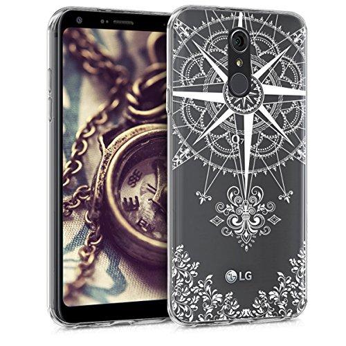 kwmobile LG Q7 / Q7+ / Q7a (Alpha) Hülle - Handyhülle für LG Q7 / Q7+ / Q7a (Alpha) - Handy Case in Weiß Transparent