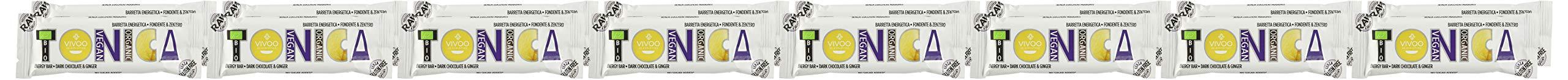 Vivoo Tonica - Barretta Energetica - Fondente e Zenzero - 16 Confezioni da 35 g 2 spesavip