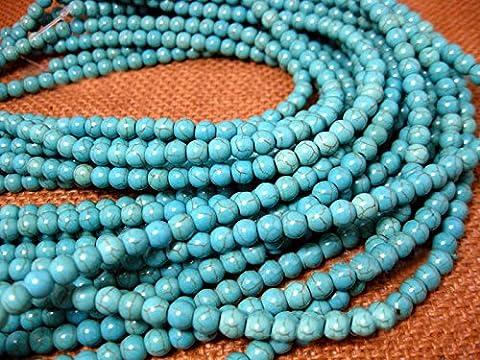 Perles de perles turquoises en pierres naturelles Perles en vrac pour bijoux Bijouterie 4-16mm