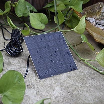 Decdeal Solar Powered Water Pump Solar Pond Pump Upgraded Submersible Fountain Pump for Bird Bath 170L/H 10