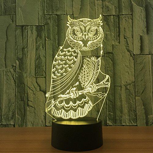 orangeww Pfau Leuchte 3D Dobermann Lampara LED Rottweiler Hund Tischleuchte USB Hund Nachtlicht 7 farben Kinderzimmer Dekor Schlaf Leuchte Weihnachten Neuheit geschenke -
