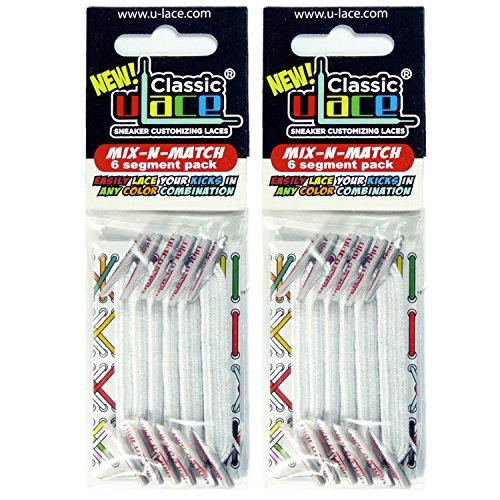 Pack Blanc 2 sachets lacets élastiques U-LACE (WHITE)