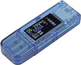 Akozon USB-Tester, USB-Belastung, RuiDeng AT34 USB 3.0 Farbe LCD-Display Voltmeter Amperemeter Stromzähler Multimeter Ladegerät USB-Tester, Digital Meter Tester Kabel Widerstand USB Load Tester