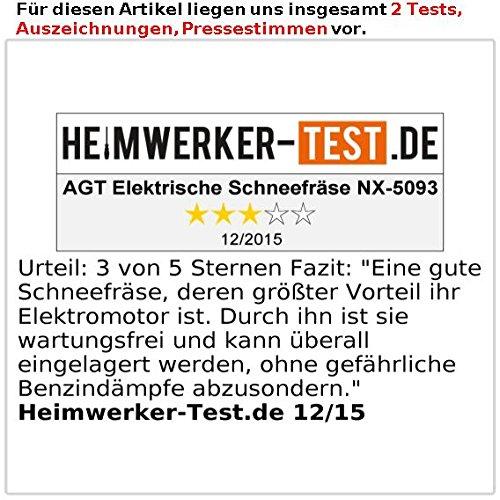 AGT Handschneefräse: Elektrische Schneefräse SB-216.e, 1.600 W, 46 cm Räumbreite (Elektro Schneefräse)