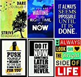 #8: Paper Plane Design Combo Pack of 6 Motivational Wall Posters and Inspirational Quotes for Office and Home Decor (Size 12 inches x 18 inches) Design 68