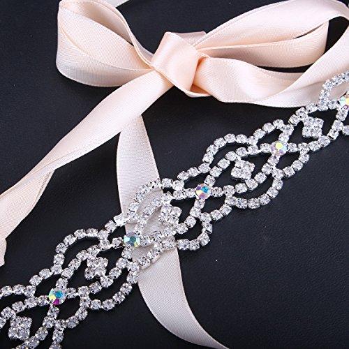 Santfe pelo banda Rhinestone Nupcial Cuentas Diamante Diademas Clips accesorio para el pelo