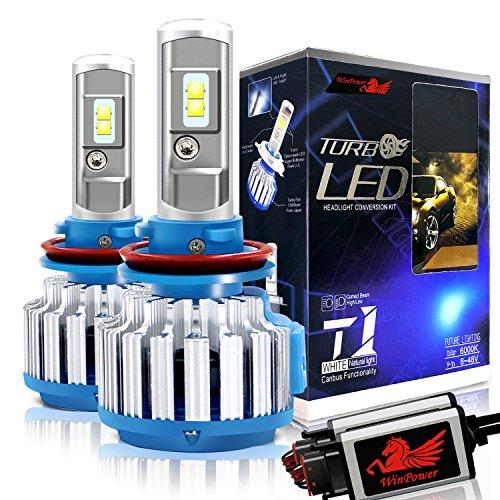2Pcs H11 H8 H9 LED Auto Faro Lampadina 70W 6000K Luce Bianca Lampada per 12V Veicolo Win Power
