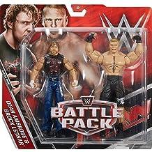 WWE Pack De Lucha Serie 43.5 Figura De Acción - 'The Beast' Brock Lesnar Vs Dean Ambrose Lleva Camiseta