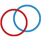 Instant Pot - Set di 2 anelli di tenuta a 8 quadretti, colore: rosso/blu