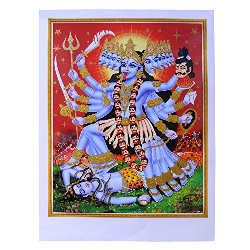 Bild Kali Mata 50x70cm Kunstdruck Poster Indien Hinduismus Dekoration Wohnaccessoire