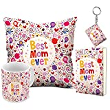 #8: Aart Best Mom Ever 12x12 Filled Cushion and Ceramic Mug