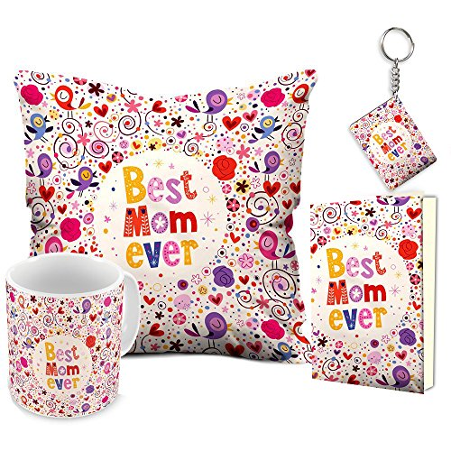 Aart Best Mom Ever 12x12 Filled Cushion and Ceramic Mug