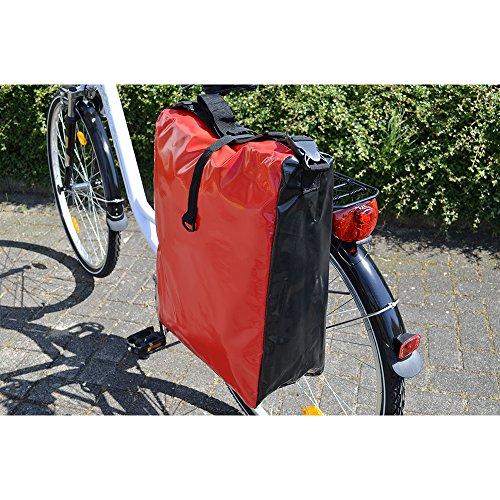 Filmer F Fahrradtasche LKW-Plane) Wasserdicht rot / schwarz
