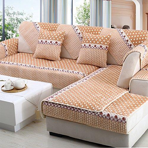 New day®-Inverno cuscino del divano antiscivolo europeo divano peluche cuscino , 90*90cm