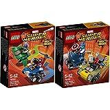 Lego Super Heroes Mighty Micros 2er Set 76064 76065 Spider Man & Green Goblin + Captain America & Red Skull