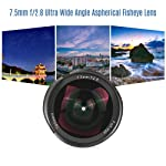 Andoer 7artisans 7.5mm f/2.8 Ultra Wide Angle Aspherical Fisheye Lens Manual Focus Large Aperture for Canon M1/ M2/ M3...