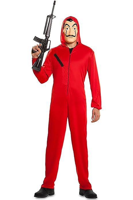 Chao-Tuta y máscara rapinador papel original Casa de Papel (Talla XL) Disfraz para adultos, color rojo, 706842-TXL: Amazon.es: Juguetes y juegos