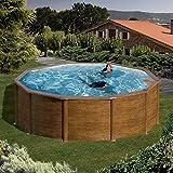Gartenwelt Riegelsberger Pool-Set Feeling rund 460x120 cm Holzoptik