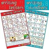 Educational Products 2-in-1-Schreiben Zahlen und Buchstaben–Early years Poster/Wandchart, mit Perforationen–60cm x 40cm