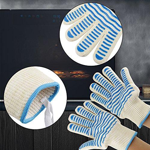 61Iz2EPXOPL - 1pair / set Küche Handschutz Kochherd Outdoor BBQ Hitzebeständige Grill Heatproof Handschuhe Grillen Zubehör Home Kitchen Tools zum Kochen, Grillen, Backen