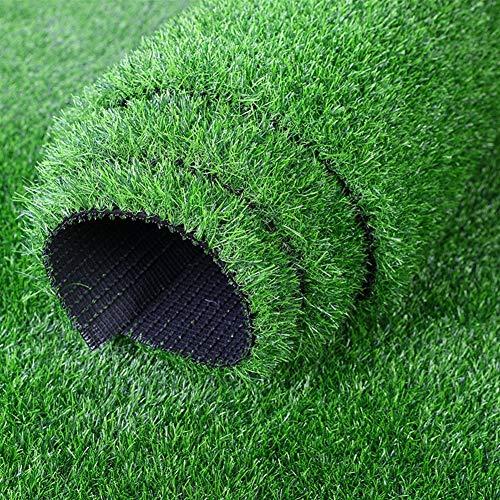 Stapel-höhe (ZIYEYE Erstklassiger synthetischer Kunstrasen-Rasen 20mm Stapel-Höhe, Garten-Haustier-Matten-Rasen, der mit Entwässerungslöchern für Dekoration des Garten-Haustieres im Freien unterstützt Wird)