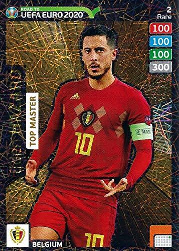 Adrenalyn XL ROAD TO EURO 2020 - EDEN HAZARD TOP MASTER TRADING CARD - RARE #