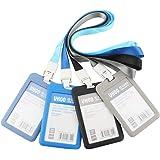 GTIWUNG Lot de 4 Porte-Badges, Porte-Carte d'identité Badge Nominatif, Portes-Clés d'identité Badge pour l'entreprise, Travai